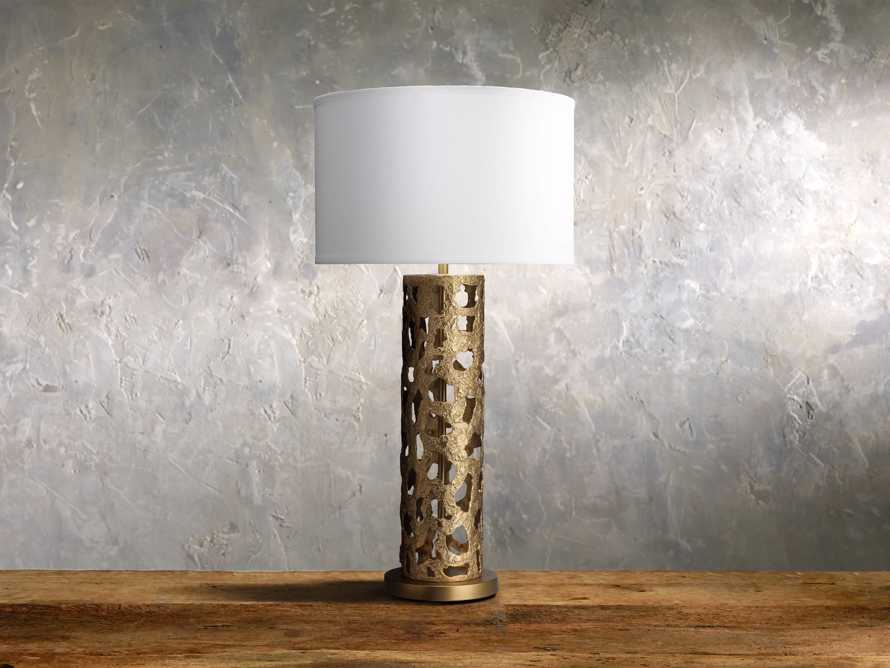 Strata Table Lamp in Antique Gold, slide 1 of 1