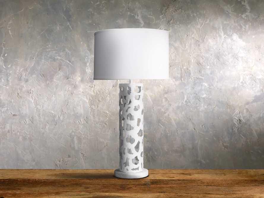 Strata Table Lamp in White, slide 1 of 1