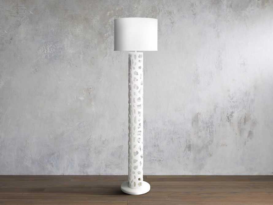 Strata Floor Lamp in White, slide 1 of 1
