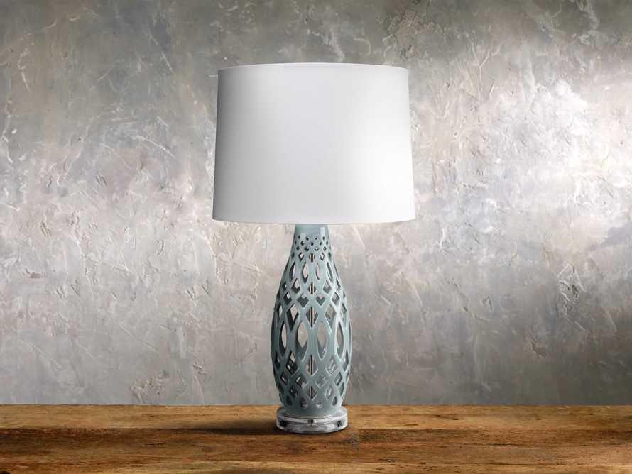 Roanne Table Lamp in Pale Blue, slide 1 of 1