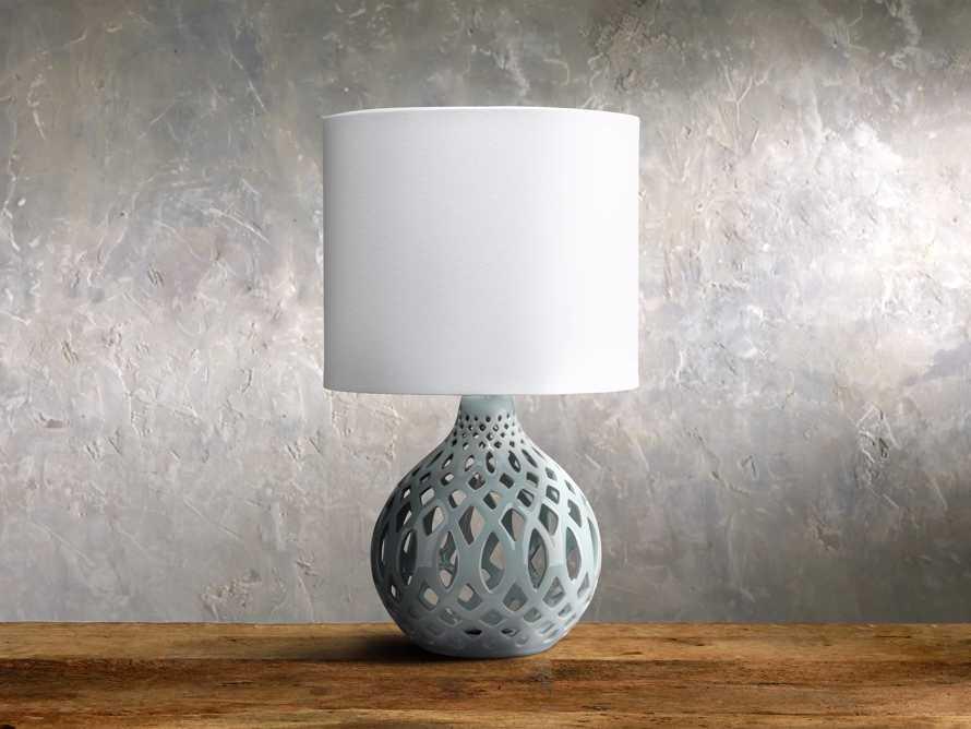 Roanne Petite Table Lamp in Pale Blue, slide 1 of 1