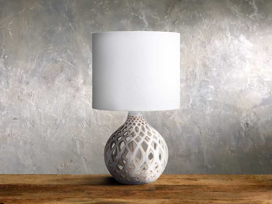 Roanne Petite Table Lamp in Ivory, slide 1 of 1