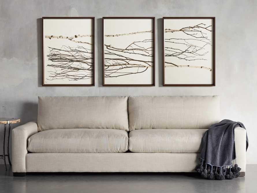 Birch Triptych Framed Print, slide 10 of 10