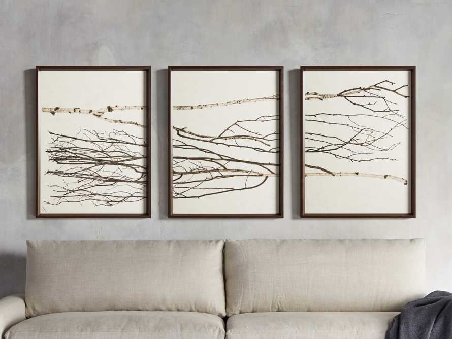 Birch Triptych Framed Print, slide 1 of 9