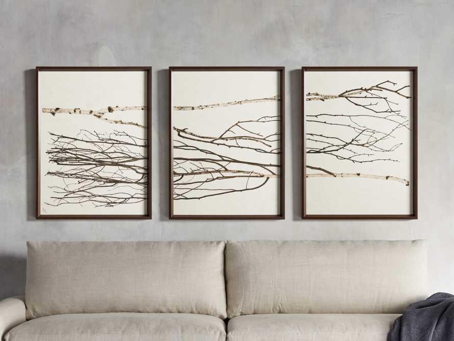 Birch Triptych Framed Print, slide 1 of 10