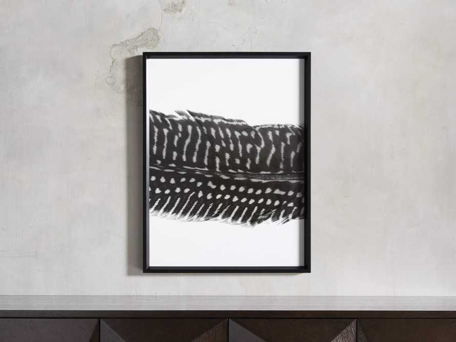 Pheasant Feather Triptych Framed Print, slide 3 of 11