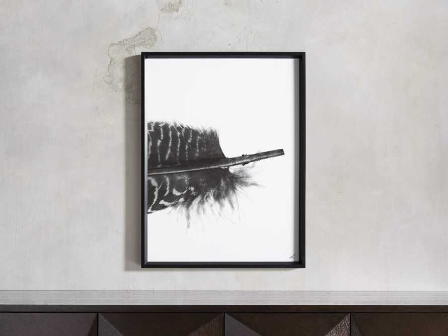 Pheasant Feather Triptych Framed Print, slide 4 of 11