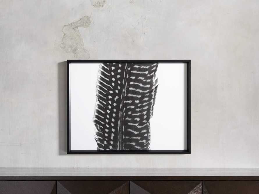 Pheasant Feather Triptych Framed Print, slide 9 of 11