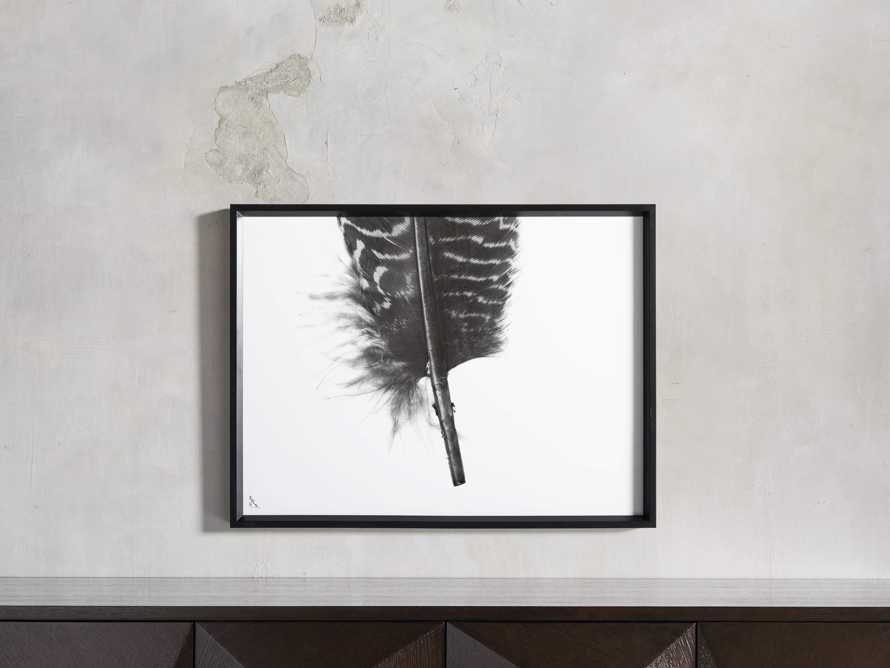 Pheasant Feather Triptych Framed Print, slide 10 of 11