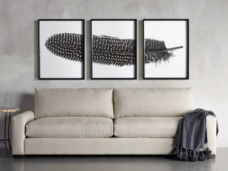 Pheasant Feather Triptych Framed Print, slide 11 of 11