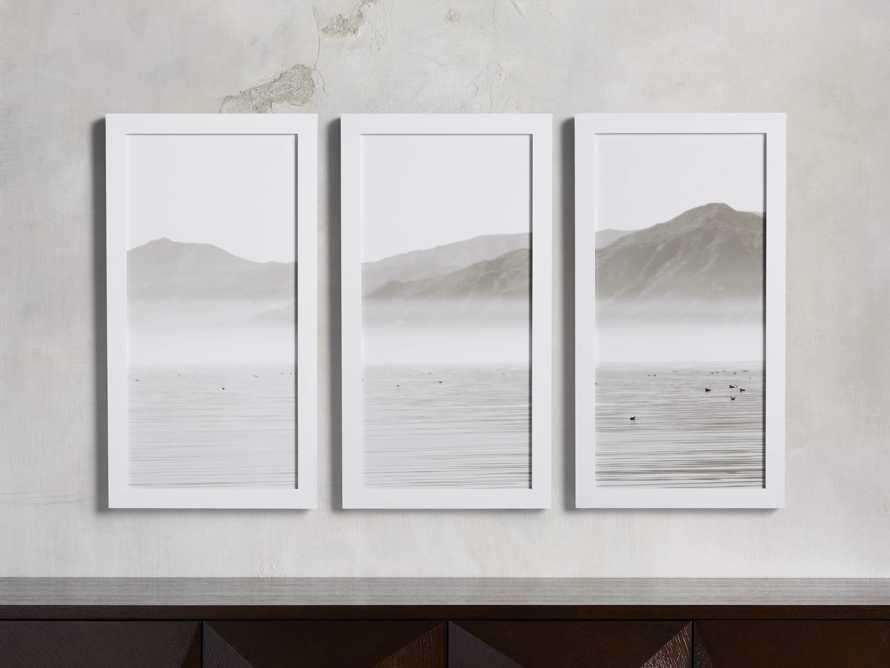Oceanic Summit Triptych Framed Print, slide 1 of 3