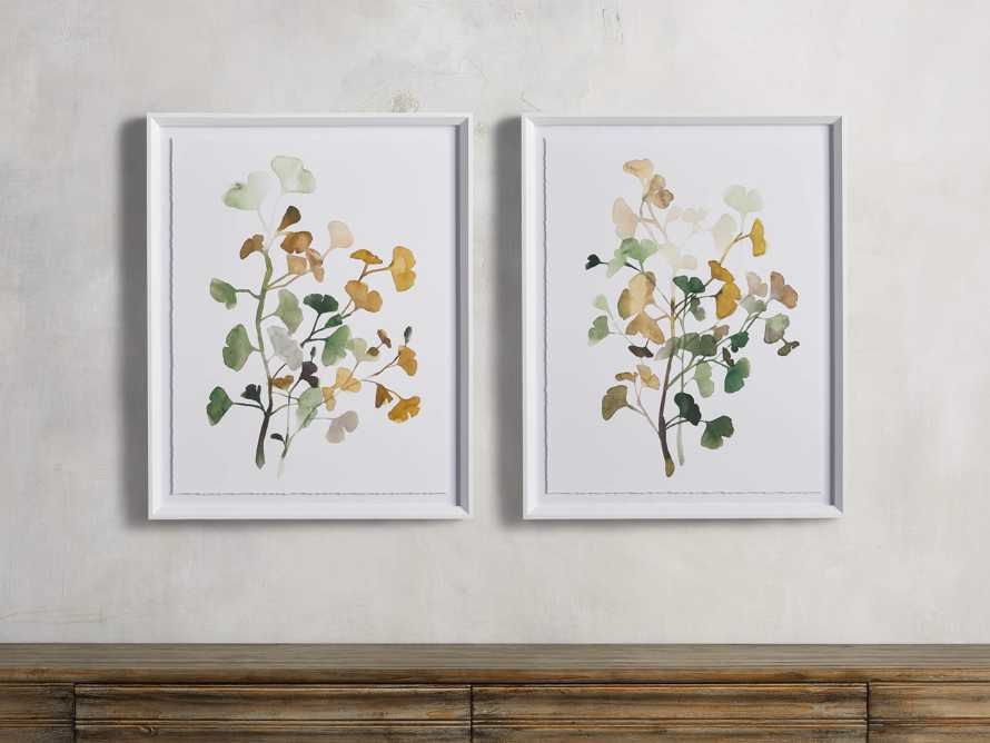 Ginkgo Watercolor Framed Print III, slide 3 of 4