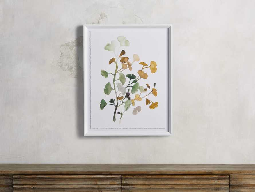 Ginkgo Watercolor Framed Print III, slide 1 of 4