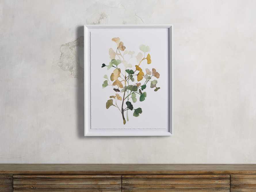 Ginkgo Watercolor Framed Print IV, slide 1 of 4
