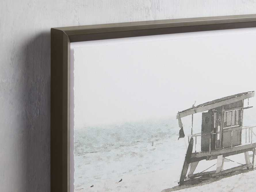 Rehoboth Beach Hut Framed Print