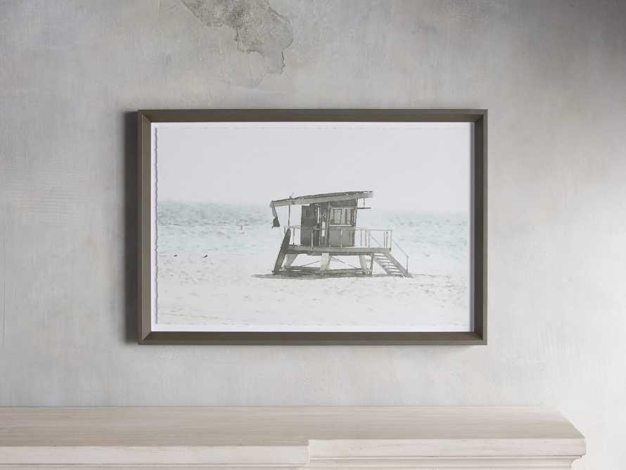 Rehoboth Beach Hut Framed Print, slide 1 of 5