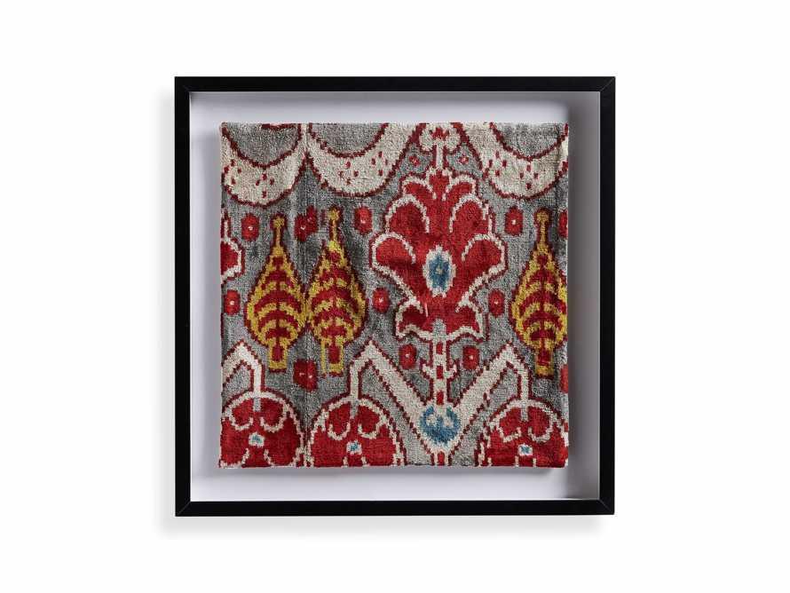 Framed Velvet in Silver and Red Print