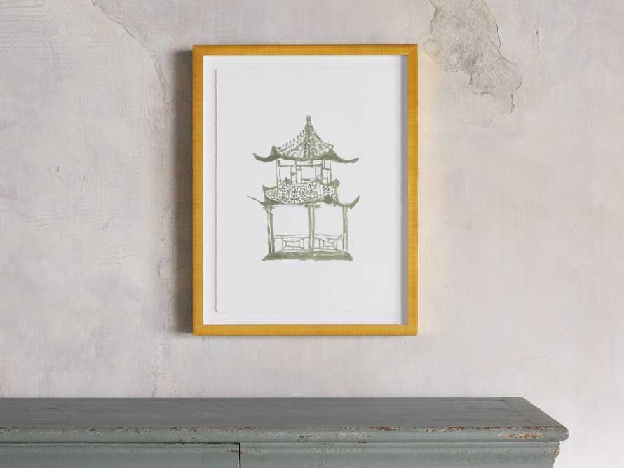 Sage Pagoda Framed Print