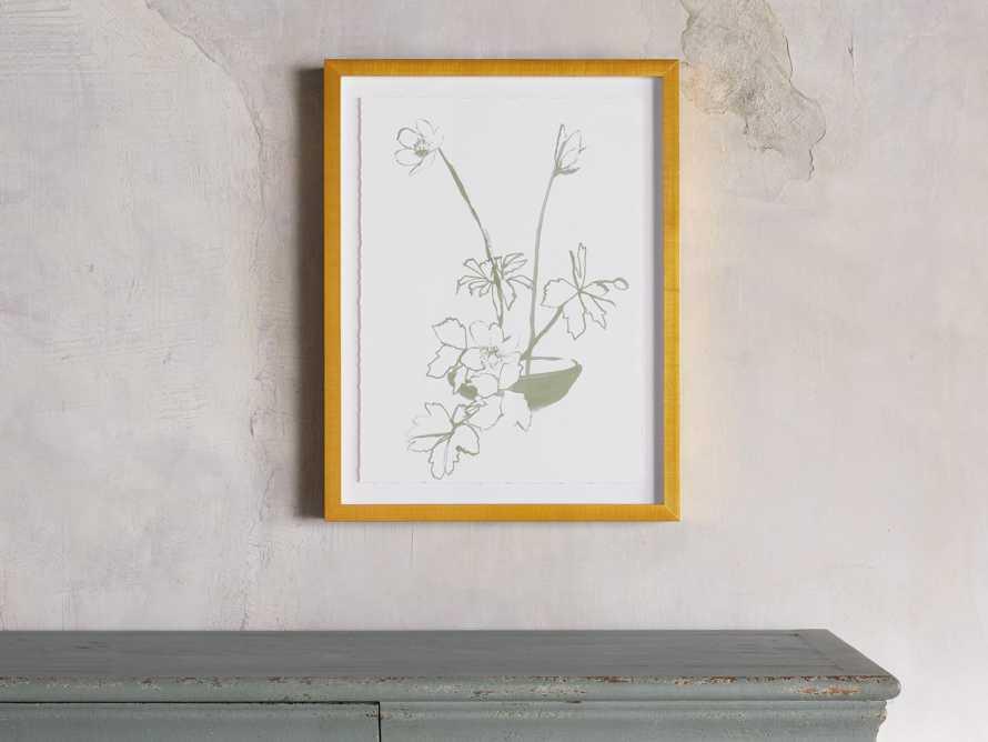 Sage Blooms Framed Print 2