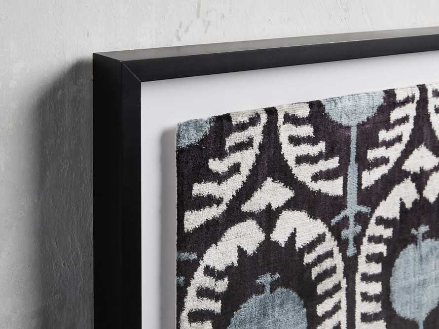 Framed Velvet Print in Blue and Black 2