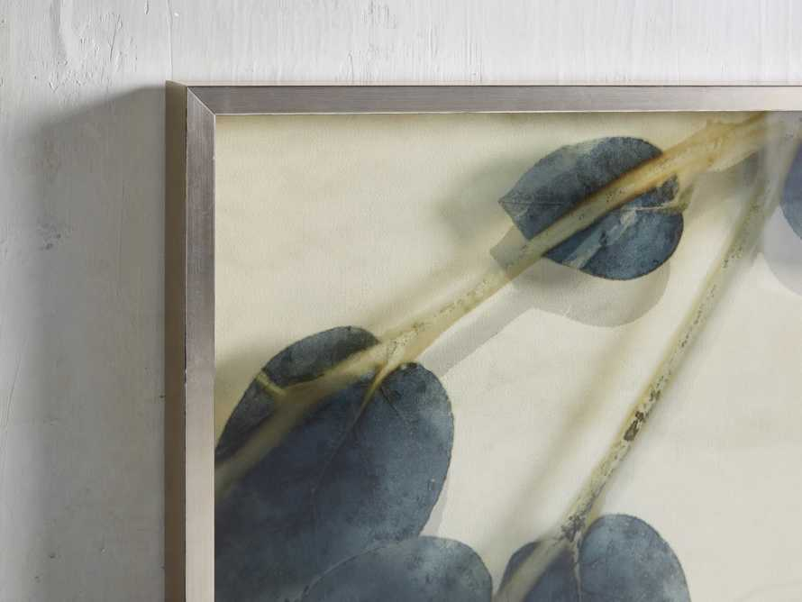 Blue Lemon Leaves Framed Print I, slide 2 of 5