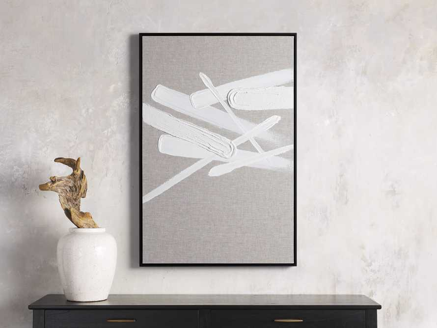 Format Framed Linen Painting I, slide 1 of 7