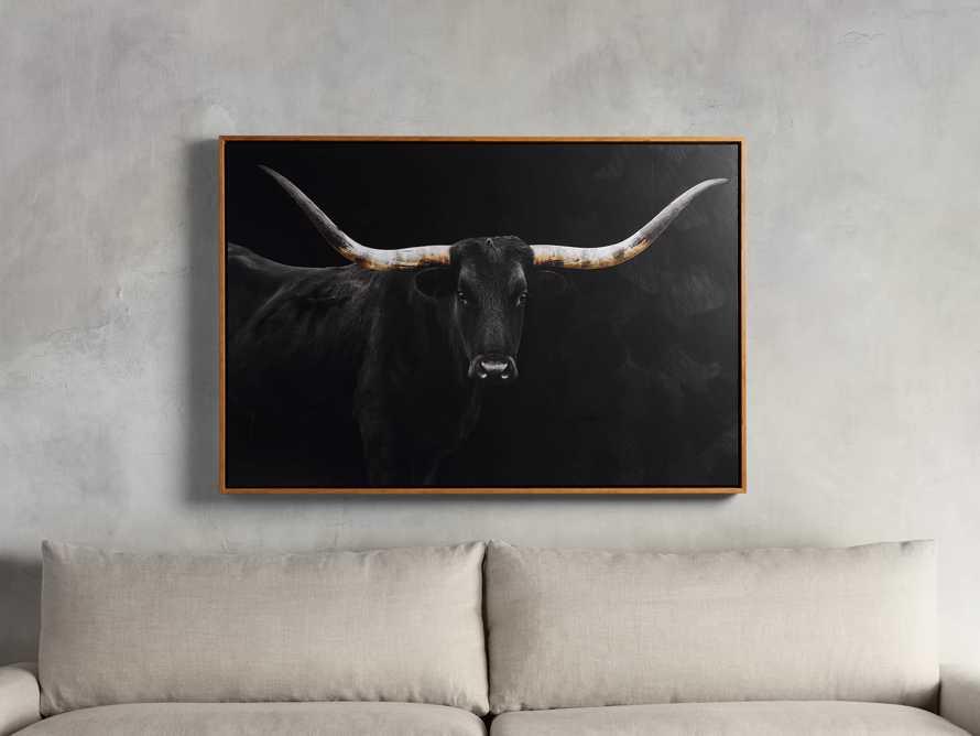 Longhorn Framed Print, slide 1 of 2
