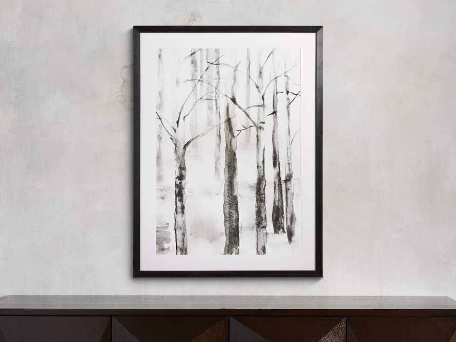 "Frosted Birch Trees 30"" x 40"" Framed Print"