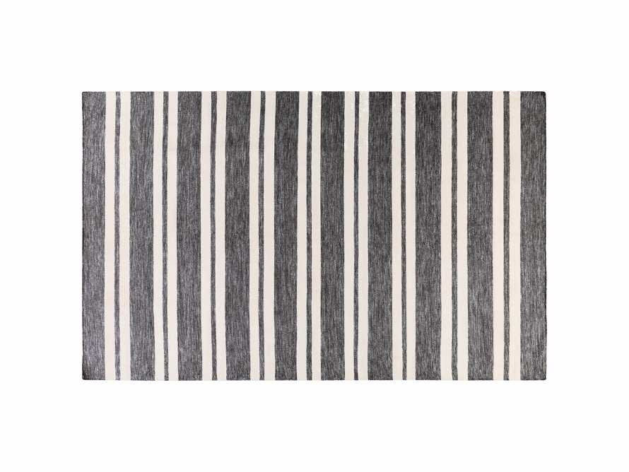 """Collins 5' x 7'6"""" Outdoor Rug in Charcoal Stripe"""