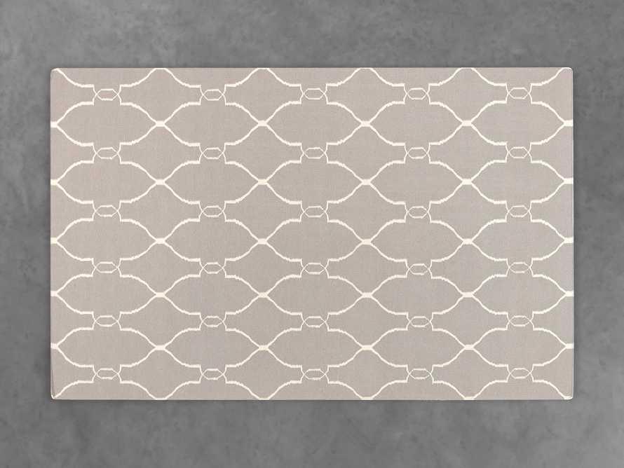 Dorothea 5' X 8' Flatweave Geometric Rug In Light Grey