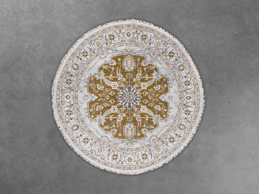 Evgenia 8' Round Hand Knotted Floral Rug
