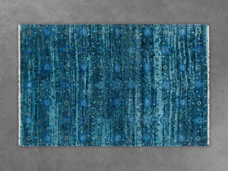 "Hestia 5'6"" X 8'6"" Hand Knotted Medallion Rug In Blue"