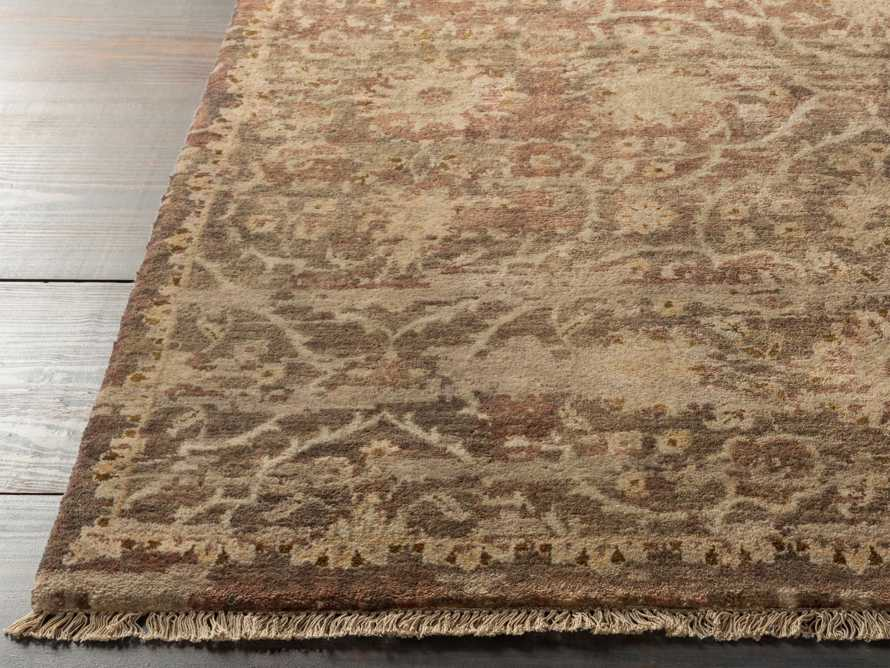 """Hestia 5'6"""" X 8'6"""" Hand Knotted Floral Rug In Olive"""