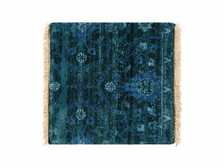 "Hestia Hand Knotted Medallion 18"" Rug Swatch In Blue"