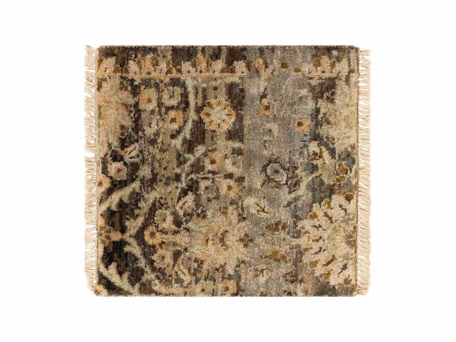 "Hestia Hand Knotted Medallion 18"" Rug Swatch In Olive"