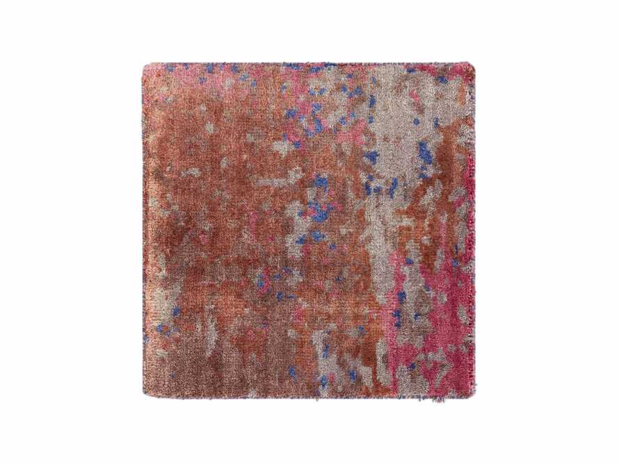 """Hideko Hand Knotted Solid 18"""" Rug Swatch In Violet"""