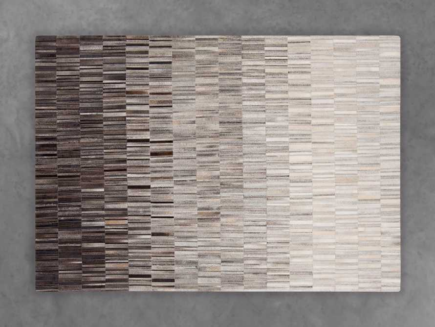 HAMLIN OMBRE 5' X 8' HAIR ON HIDE GEOMETRIC RUG