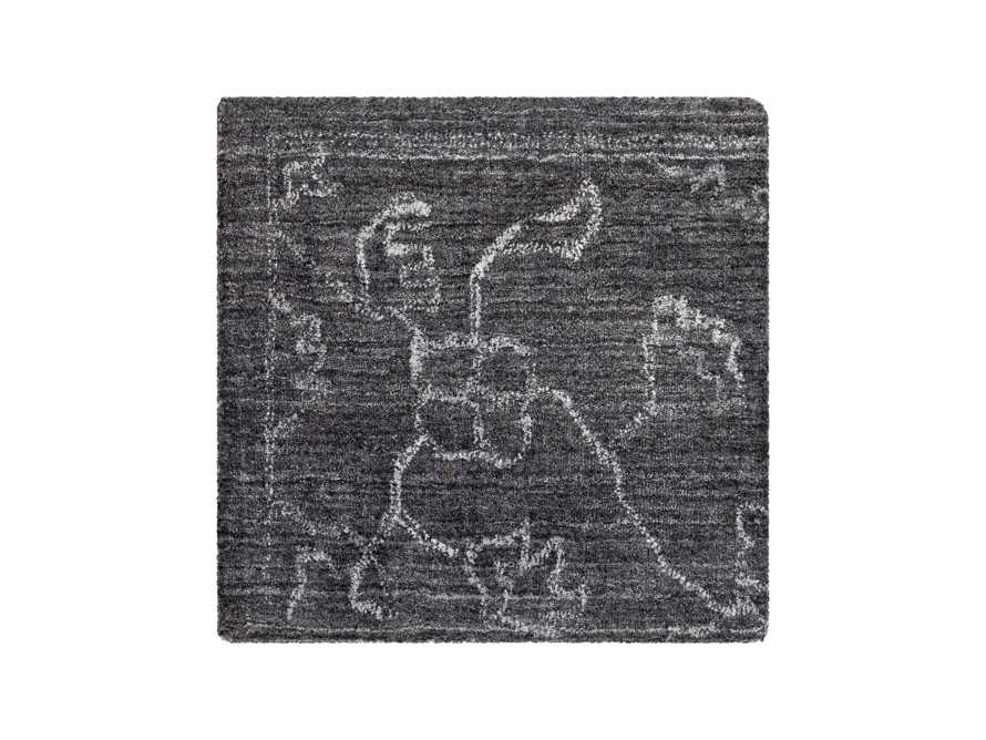 "Jaden Hand Loomed 18"" Rug Swatch in Charcoal"