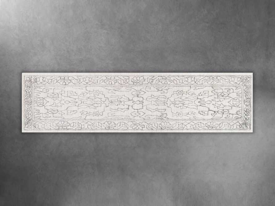 "Jaden Hand Loomed 2'6"" x 10' Runner in Silver, slide 1 of 1"
