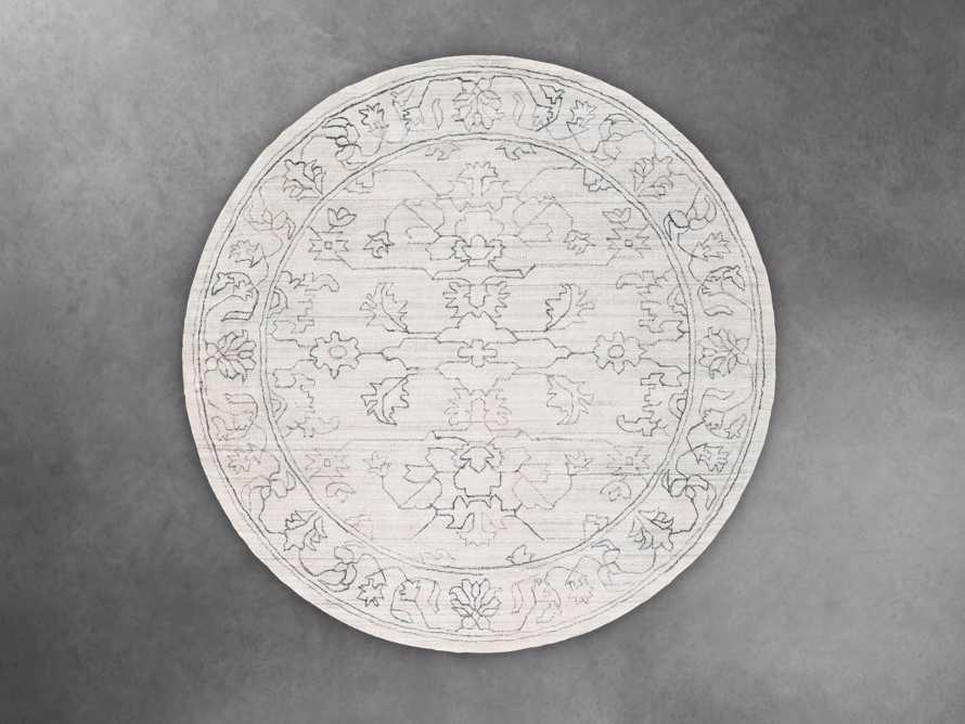 Jaden Hand Loomed 8' Round Rug in Silver