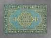 """Jehan 5'6"""" X 8'6"""" Hand Knotted Medallion Rug In Teal/Lime"""