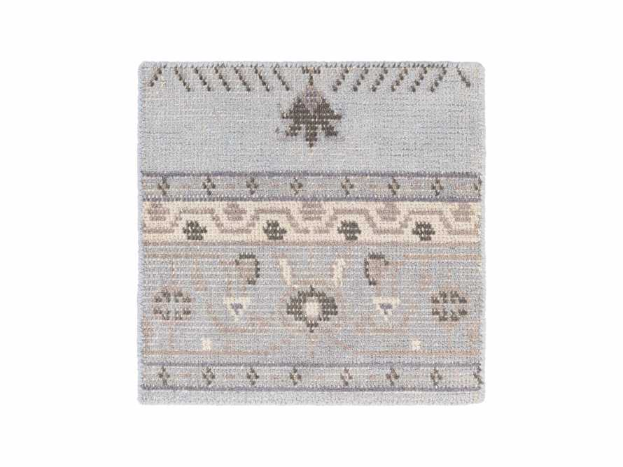 """Jehan Hand Knotted Medallion 18"""" Rug Swatch In Slate"""
