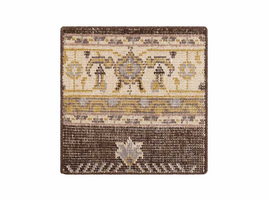 Jehan Hand Knotted Medallion Rug Swatch In Taupe/Grey