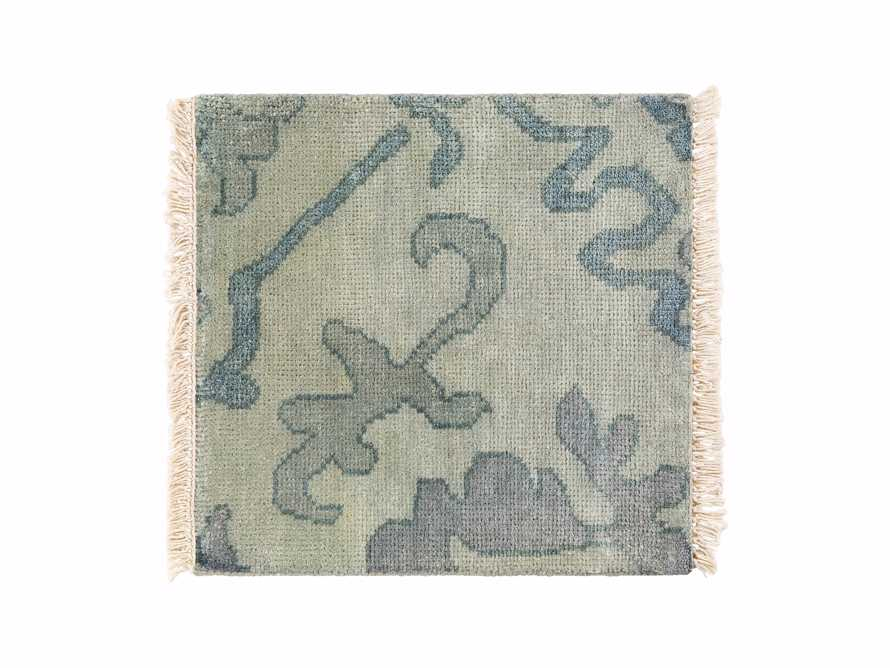 "Kagiso Hand Knotted Medallion 18"" Rug Swatch In Blue, slide 1 of 1"