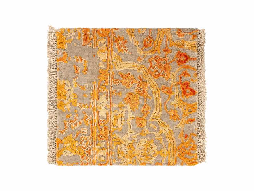 "Kamya Hand-Knotted 18"" Rug Swatch in Tangerine"