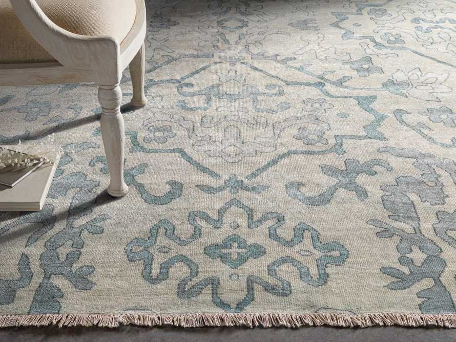 Kagiso 8' X 11' Hand Knotted Medallion Rug In Blue