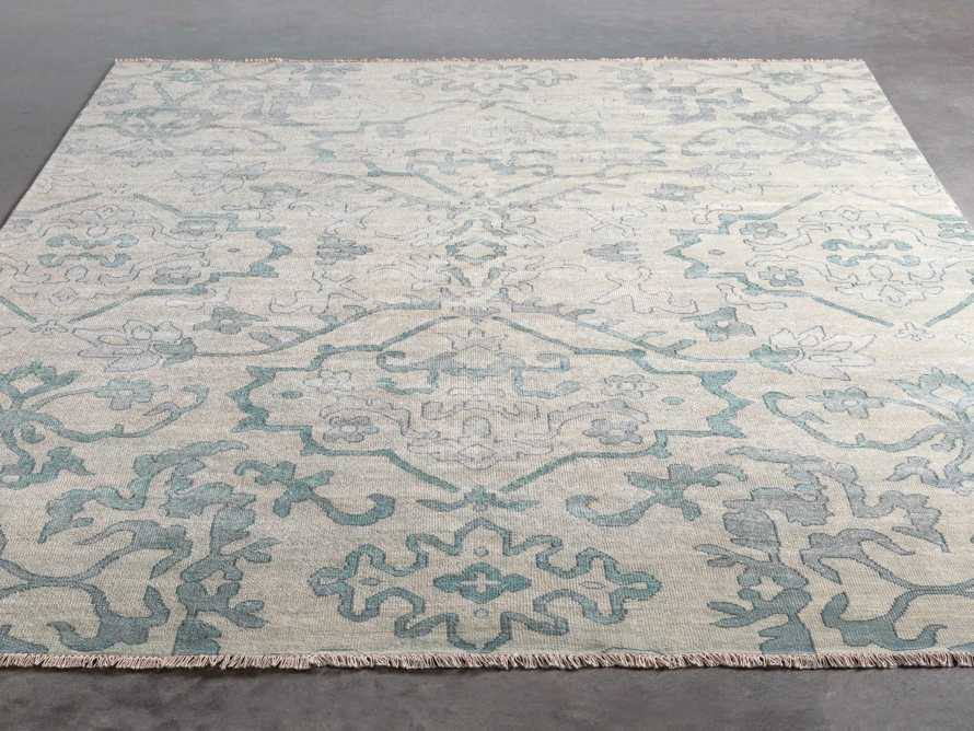 Kagiso 9' X 13' Hand Knotted Medallion Rug In Blue, slide 2 of 3