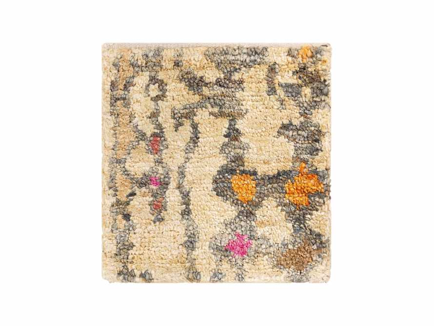 "Naria Hand-Knotted 18"" Rug Swatch in Rust, slide 1 of 1"