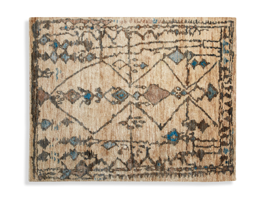 Naria 6' x 9' Hand-Knotted Rug in Turquoise, slide 4 of 6