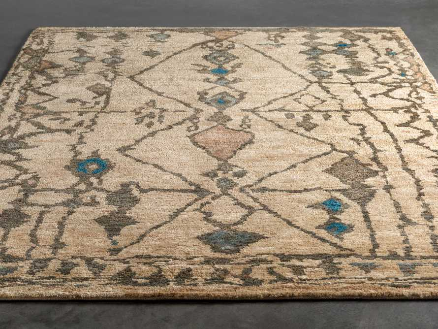 Naria 6' x 9' Hand-Knotted Rug in Turquoise, slide 2 of 6